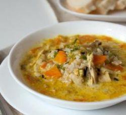 суп из индейки с рисом