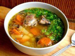 суп из рыбных консервов сайры