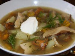 суп из замороженных грибов