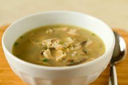 суп рисовый с грибами