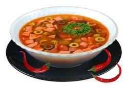 рецепт супа-солянки  с колбасой