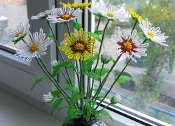 мастер класс цветы из бисера