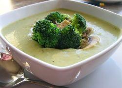 сырный суп-пюре c брокколи