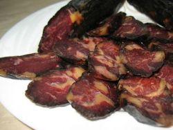 сыровяленая колбаса из конины