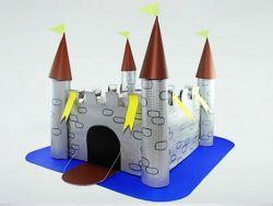 Как сделать из бумаги замок