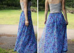 Сшить юбку легкой ткани