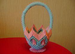 Модульное оригами - корзинка