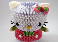 модульное оригами кошка