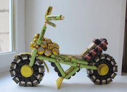Мотоцикл из конфет - мастер-класс