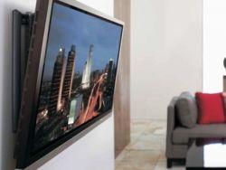 размещение телевизора на стене