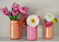 ваза из банки своими руками