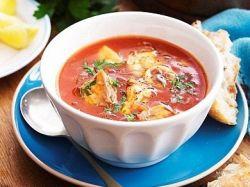 томатный суп пюре с морепродуктами