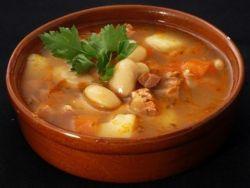 томатный суп с белой фасолью