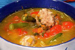 суп из тыквы с фаршем