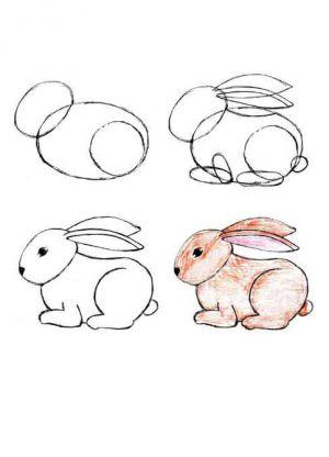 1 рисунок зайца для детей