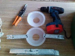 2. Установка и монтаж светильников в натяжной потолок
