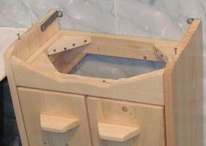 Как сделать своими руками тумбочку под раковину в ванную