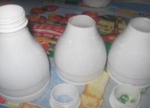 Поделки из пластиковых бутылок для дачи3