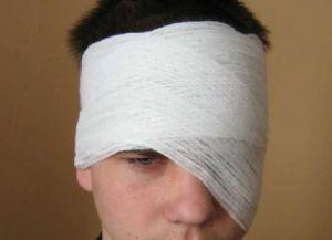 как сделать повязку на глаз 5