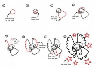 как нарисовать ангела 6