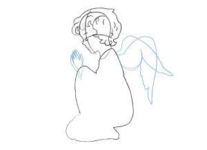 как нарисовать ангела 17