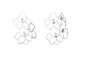 как нарисовать цветок поэтапно 11