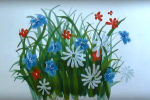 как нарисовать цветок поэтапно 33