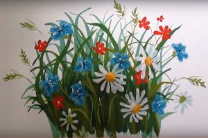 как нарисовать цветок поэтапно 38