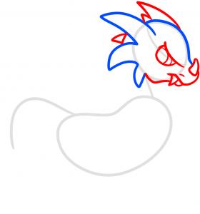как нарисовать дракона 3