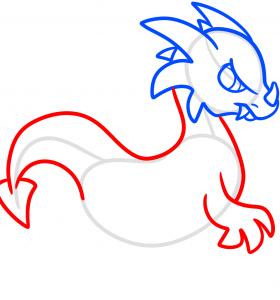 как нарисовать дракона 4