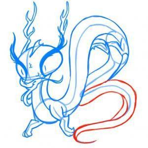 как нарисовать дракона 16
