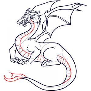 как нарисовать дракона 28