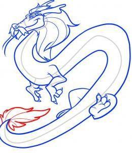 как нарисовать дракона 40