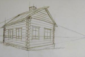как нарисовать дом 10