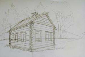 как нарисовать дом 11