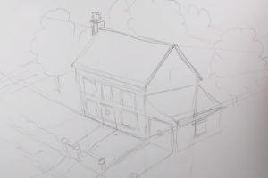 как нарисовать дом 20