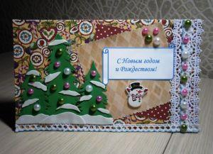 новогодние открытки своими руками с детьми 42