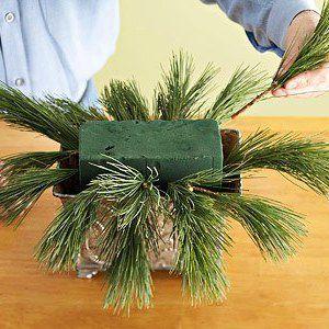 Новогодний букет вместо елки своими руками фото 301