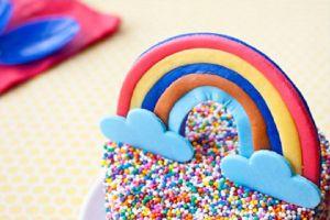 Простой торт из мастики