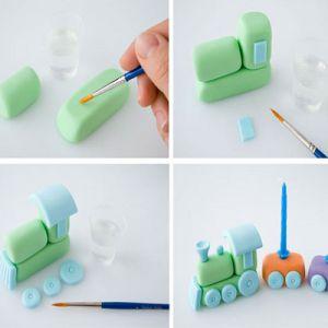 Как делать украшения из мастики для детского торта 1