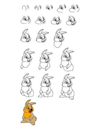3 рисунок зайца для детей
