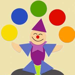 аппликация клоун 1