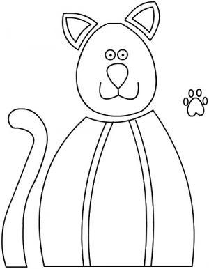 аппликация кошка1