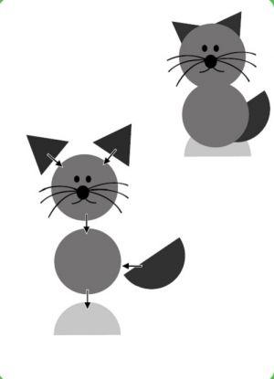 аппликация кошка4