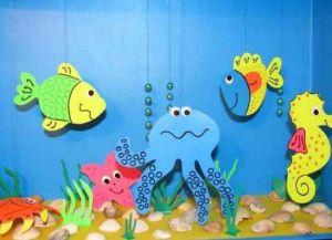 аппликация рыбки в аквариуме