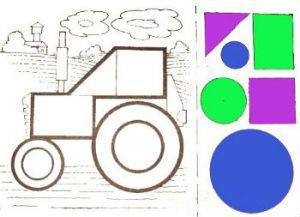 Аппликация из геометрических фигур 6