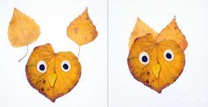 сова из листьев1