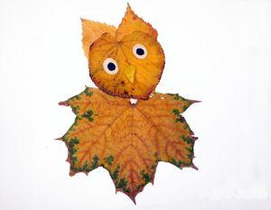 сова из листьев2