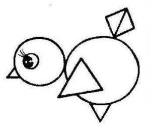 Аппликация из геометрических фигур 8