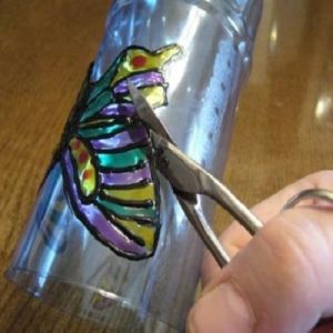 бабочки из пластиковых бутылок 21